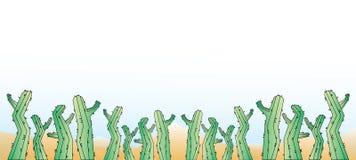 De achtergrond van het cactusbeeldverhaal Stock Foto's
