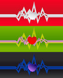 De achtergrond van het cardiogram Royalty-vrije Stock Afbeelding