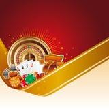 De achtergrond van het casino Royalty-vrije Stock Afbeeldingen
