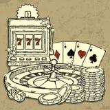 De achtergrond van het casino Royalty-vrije Stock Foto