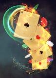 De achtergrond van het casino Stock Foto's