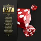 De achtergrond van het casino Vectorpookillustratie stock illustratie