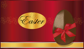 De achtergrond van het chocoladeei Stock Afbeeldingen
