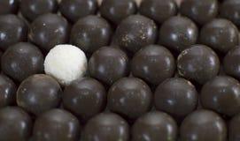 De achtergrond van het chocoladesuikergoed Stock Afbeeldingen