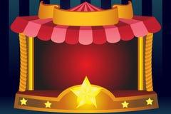 De achtergrond van het circus Stock Foto