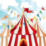 De achtergrond van het circus Stock Afbeeldingen