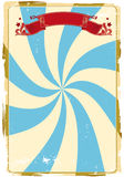 De achtergrond van het circus grunge Stock Afbeelding