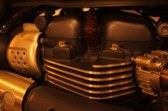 De achtergrond van het het close-updetail van de motorfietsmotor royalty-vrije stock foto's