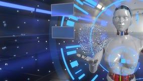 De achtergrond van het computertechnologieconcept, het 3d teruggeven stock illustratie