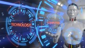 De achtergrond van het computertechnologieconcept, het 3d teruggeven royalty-vrije illustratie