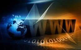 De Achtergrond van het Concept van Internet Royalty-vrije Stock Foto