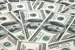 De achtergrond van het contante geld Stock Afbeeldingen
