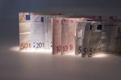 De achtergrond van het contante geld Stock Foto's