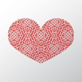 De achtergrond van het de dagconcept van Valentine ` s met het kantorna van het origamiknipsel Stock Foto's