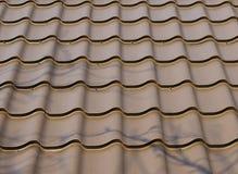 De achtergrond van het dak Stock Fotografie