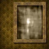 De achtergrond van het damast met grungy frame royalty-vrije illustratie