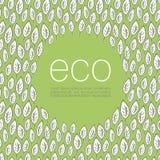 De achtergrond van het de afficheontwerp van de ecologie royalty-vrije illustratie