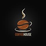 De achtergrond van het de boonontwerp van de koffiekop royalty-vrije illustratie