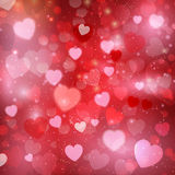 De achtergrond van het de daghart van Valentine Stock Foto