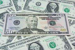 De achtergrond van het de dollarcontante geld van de V.S. Royalty-vrije Stock Afbeelding