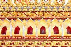 De achtergrond van het de gipspleisterpatroon van Thailand stock fotografie