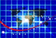 De achtergrond van het de kaartnetwerk van de wereld Stock Foto's