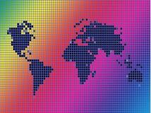 De achtergrond van het de kaartoverzicht van de wereld Royalty-vrije Stock Foto