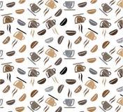 De achtergrond van het de Koffiepatroon van koffiekoppen Stock Foto