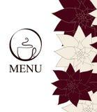 De achtergrond van het de kopMenu van de koffie Royalty-vrije Stock Foto's