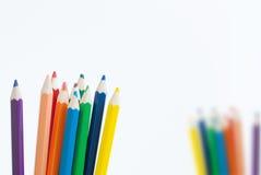 De achtergrond van het de kunstconcept van de potloodkleur leeg voor tekst of uw exemplaar royalty-vrije stock foto's