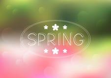 De achtergrond van het de lentenetwerk vector illustratie