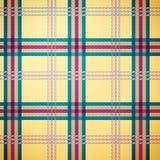 De achtergrond van het de plaidpatroon van het geruite Schotse wollen stof Royalty-vrije Stock Foto