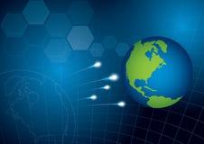 De achtergrond van het de technologieconcept van de wereld vector illustratie
