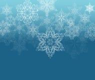 De achtergrond van het de winterornament Stock Fotografie