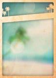 De achtergrond van het de zomerparadijs Royalty-vrije Stock Foto's