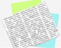 De achtergrond van het document en van de tekst Vector Illustratie