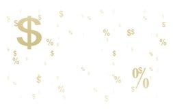 De achtergrond van het dollarsymbool Royalty-vrije Stock Afbeeldingen