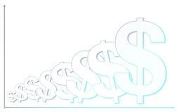 De achtergrond van het dollarsymbool met grafiekpatroon Royalty-vrije Stock Afbeelding