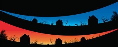 De achtergrond van het dorp Royalty-vrije Stock Foto's