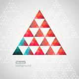 De achtergrond van het driehoekspatroon, driehoeksachtergrond, vector illustr Royalty-vrije Stock Fotografie