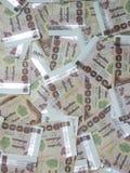 De achtergrond van het duizend Bahtbankbiljet Stock Afbeeldingen