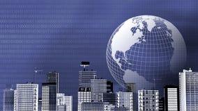 De Achtergrond van het e-business stock illustratie