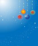 De achtergrond van het feestelijke Nieuwjaar. Stock Afbeelding