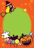 De Achtergrond van het Frame van de Vakantie van Halloween Stock Afbeeldingen