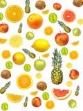 De achtergrond van het fruit Stock Afbeeldingen