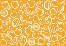 De achtergrond van het fruit Stock Foto's