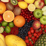 De achtergrond van het fruit stock foto