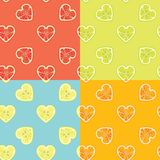 De achtergrond van het fruit Reeks van citrusvruchten naadloos patroon Royalty-vrije Stock Foto