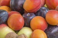 De achtergrond van het fruitdetail Stock Foto