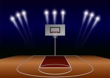 De achtergrond van het het gebiedsconcept van de basketbalschijnwerper, realistische stijl stock illustratie